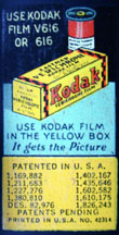 Kodak 616 film label
