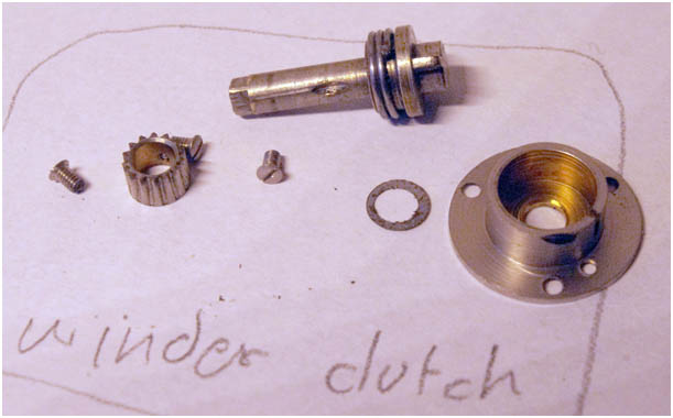 Winder clutch mechanism, Reflex Korelle B
