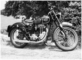 AJS Motorcycle near Titchfield