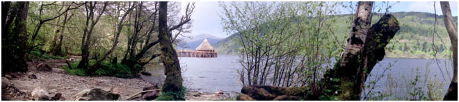 picture is of a reconstructed Crannog, an early         high status dwelling
