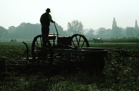 demonstration of traction engine ploughing