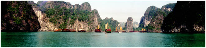 Ha Long Bay off Northern Vietnam