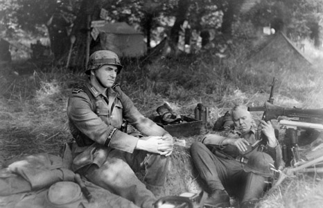 German soldiers rest in Northern France after their         successes of Spring 1940