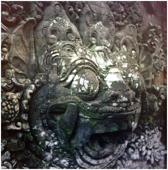 Balinese Temple carving detail