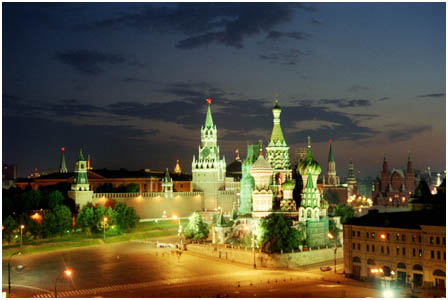 The Kremlin and St Basils, Moscow