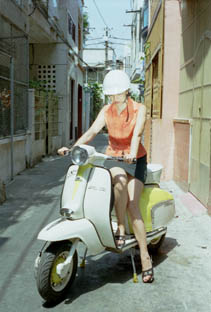 1963 Lambretta in         a side street of Ho Chi Minh