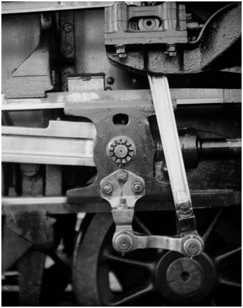 detail of a locomotive drive