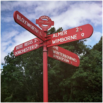 The last remaining red signpost in England