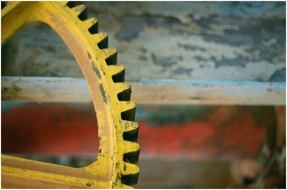 Gear wheel, of dockside crane, Gosport