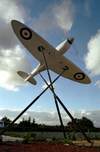 Spitfire sculpture at Eastleigh         Airport