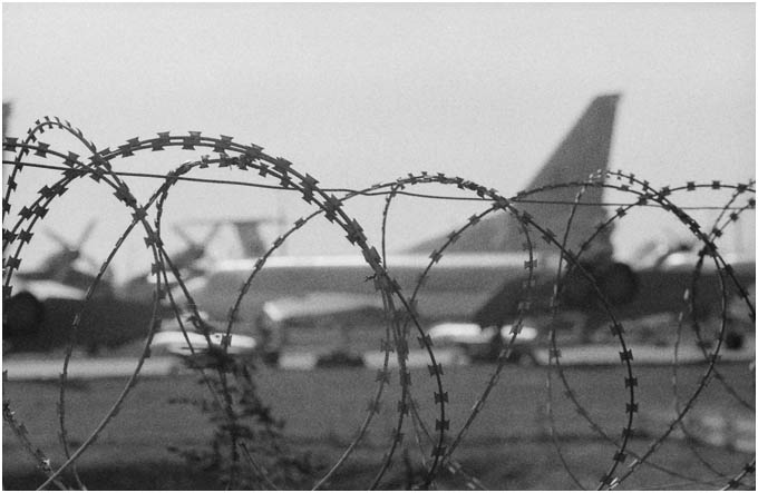 Kyiv Aviation Museum, Backfire beyond razor wire