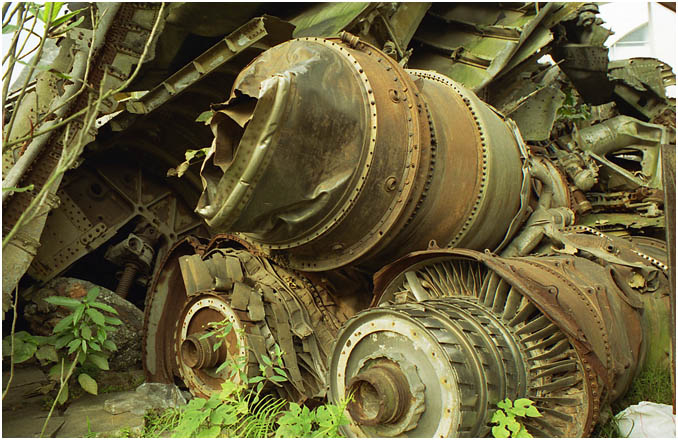 Engines from crashed B52s