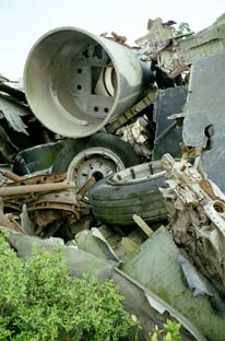 Pile of wrecked B52s