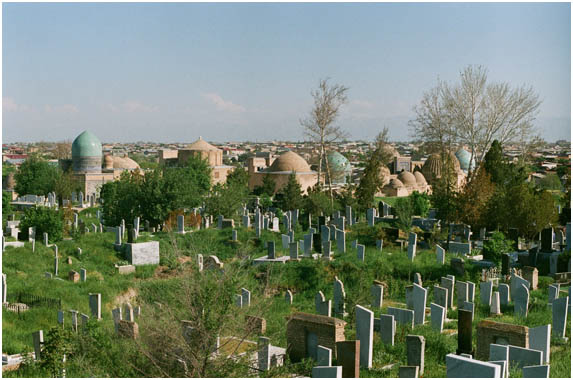 mausoleums at Shah-I Zindah