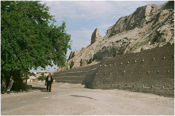 Partly restored Ark Fortess walls, Bukhara