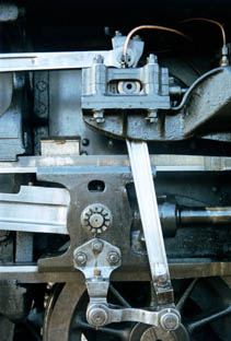 part of a steam         locomotives mechanism