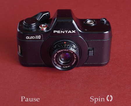 Pentax-110 360 degree rotating image
