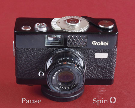 Rollei B35 spinning view