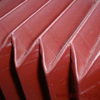 Chamfered cornered pleats